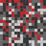 Random maroon squares. Random colored abstract, digital generative art for design texture & background. Random colored abstract, digital generative art for Stock Photo