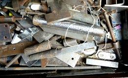 Random Metal Parts. Random metal bits and pieces background Stock Photos