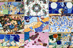 Random Mosaic Pattern - Gaudi Stock Photo