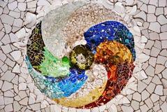 Random Mosaic Pattern - Gaudi Royalty Free Stock Image