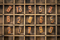 Random number in typesetter box Royalty Free Stock Images