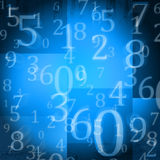 Random numbers. On blue grunge background Royalty Free Stock Photography