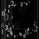 Random Numbers. In various sizes in gray scale stock illustration