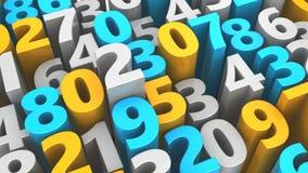 Random numbers Stock Image