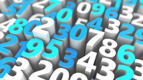 Random numbers background. Abstract 3d illustration of random numbers background Royalty Free Stock Photography