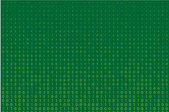 Random numbers 0 and 1. Background in a matrix style.  Abstract digital backdrop. Vector illustration Stock Photography