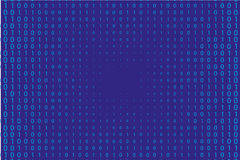 Random numbers 0 and 1. Background in a matrix style.  Abstract digital backdrop. Vector illustration Royalty Free Stock Image