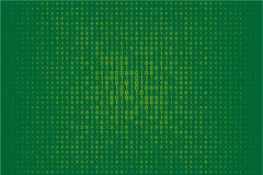 Random numbers 0 and 1. Background in a matrix style.  Abstract digital backdrop. Vector illustration Stock Photo