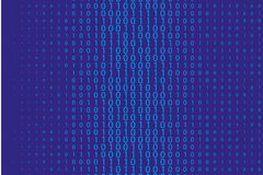 Random numbers 0 and 1. Background in a matrix style.  Abstract digital backdrop. Vector illustration Royalty Free Stock Images