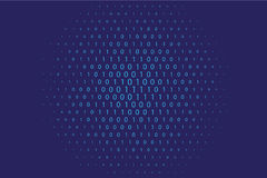 Random numbers 0 and 1. Background in a matrix style. Binary code pattern with digits on screen Royalty Free Stock Photos