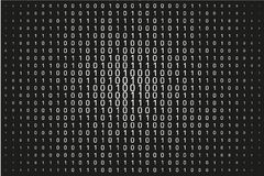 Random numbers 0 and 1. Background in a matrix style. Binary code pattern with digits on screen Stock Images