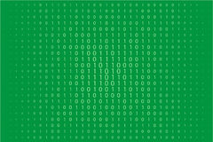 Random numbers 0 and 1. Background in a matrix style. Binary code pattern with digits on screen Royalty Free Stock Images