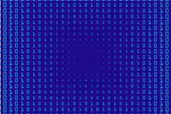 Random numbers 0 and 1. Background in a matrix style. Binary code pattern with digits on screen Stock Image