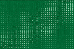 Random numbers 0 and 1. Background in a matrix style. Binary code pattern with digits on screen Stock Photography