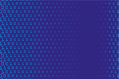 Random numbers 0 and 1. Background in a matrix style. Binary code pattern with digits on screen Stock Photos
