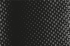 Random numbers 0 and 1. Background in a matrix style. Binary code pattern with digits on screen Stock Photo