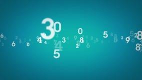 Random Numbers Blue Zooming stock video footage