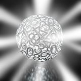 Random numbers forming a sphere Royalty Free Stock Photo