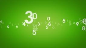 Random Numbers Green Zooming stock footage