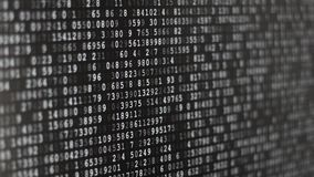 Running encrypted data stock video