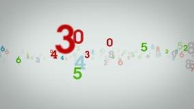 Random Numbers White Zooming stock video