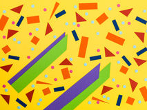 Random Pattern of Bold Colours In Geometric Shapes Stock Photography