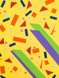 Random Pattern of Bold Colours In Geometric Shapes Royalty Free Stock Photo
