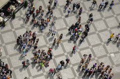 Random pattern crowd scenes Stock Images