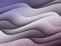 Abstract Purple Uneven Curves Waves Horizontal Background Design Royalty Free Stock Photo