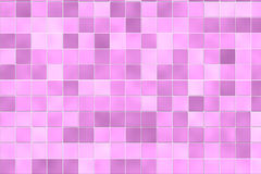 Random pink bathroom tiles. Pink and purple color tiles at bathroom wall Stock Photo