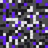 Random purple squares. Random colored abstract, digital generative art for design texture & background. Purple tile. Random colored abstract, digital Stock Photo