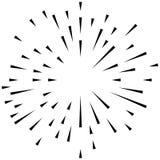 Random radial lines explosion effect. Radiating stripes circular Royalty Free Stock Photos