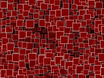 Random Red Squares Background Stock Photo