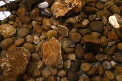 Random rocks. Under water over stock image