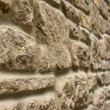 Random rubble stone wall Stock Photo