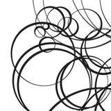 Random scattered circles artistic geometric illustration. Dynami Stock Images