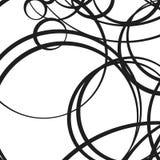 Random scattered circles artistic geometric illustration. Dynami Royalty Free Stock Photo