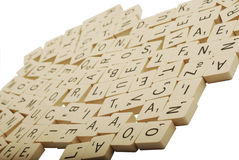 Random scrabble pieces Royalty Free Stock Photography
