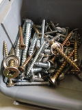 Random screws royalty free stock photography