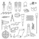 Random Sea, ocean items, objects Stock Photos