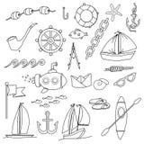 Random Sea, ocean items, objects Stock Image