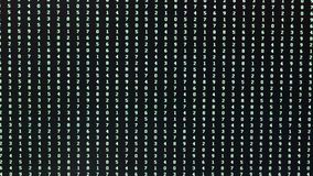Random sequence of numbers on the computer screen during an attempt password recovery stock footage