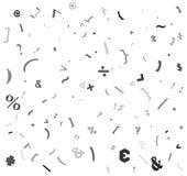 Random special sign, colon alphabet beautiful background design vector illustration