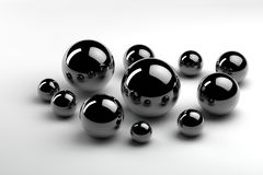 Random spheres Royalty Free Stock Photo