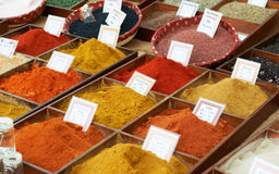 Random spices at Provence market Royalty Free Stock Photos