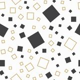 Random squares pattern, abstract background. Geometrical simple illustration. Creative ans luxury style stock illustration