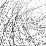 Random squiggly, squiggle intersecting lines in chaotic style. A. Bstract monochrome background / texture with distorted lines. - Royalty free vector vector illustration