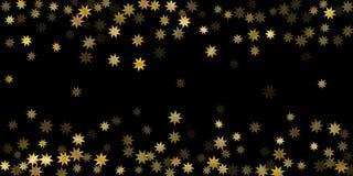 Random stars shine on a black background. royalty free illustration