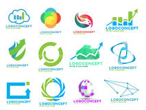 Random stock logos pack Royalty Free Stock Photography