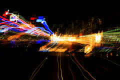 Random streaks of light Stock Images